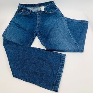 Eddie Bauer Womens Jeans 16W Blue Relaxed Straight